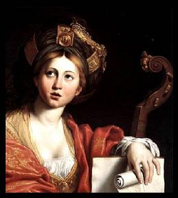 cumean sybil st. cecilia oil painting viola di gamba music saint domenichino